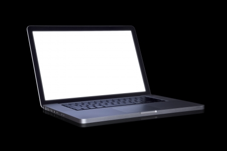 empty Laptop on dark background. (with part)