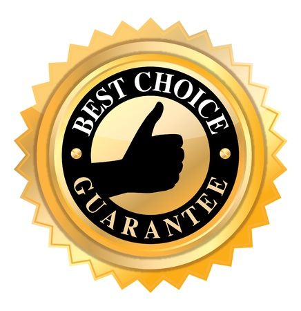 best choice label in golden color  on white  Stock Photo - 15750297