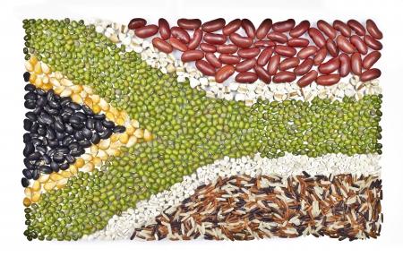 frijoles rojos: áfrica alimento bandera sobre fondo blanco