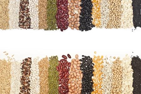 mixture: close-up, Mixture of dried lentils, peas, Grains, beans background.