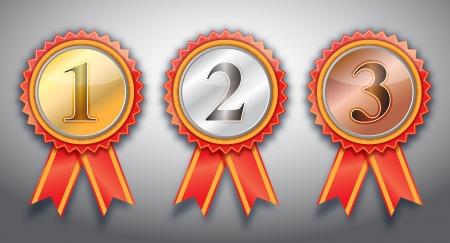 1st,2nd,3rd awards  ribbon .  photo