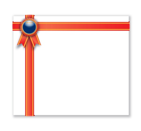 Award medal with red ribbon.  Stock Photo - 15750653