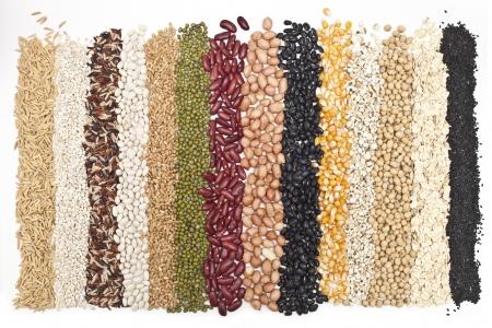 mixture: Mixture of dried lentils, peas, Grains, beans background.