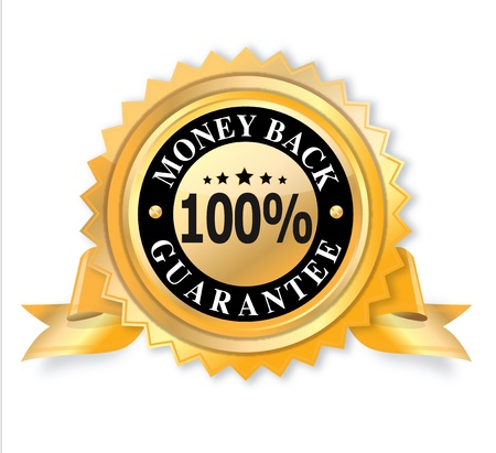 quality guarantee: 3d Money Back Guarantee icon on white