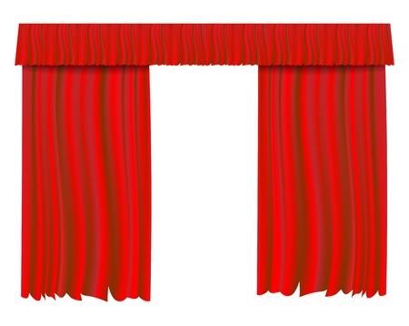 Red theater curtain  illustration background. Stock Illustration - 17445202