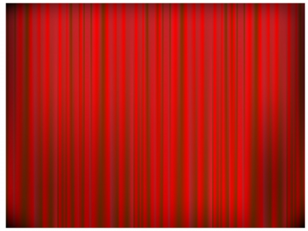 Red curtain of a classical theater background. photo