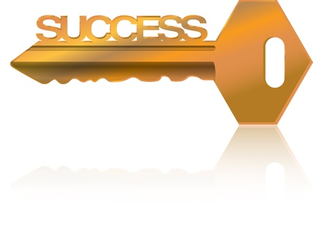key to success: golden  Key to success illustration