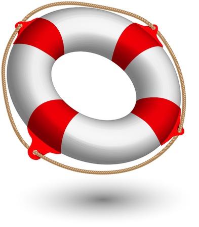 swimming belt:  Vector illustration of Life Buoy .