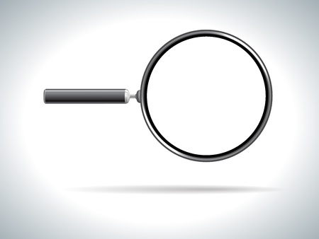 magnifying glass on white background Stock Photo - 17474218