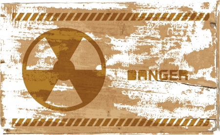 sign of radiation on wooden,   design Stock Photo - 17445254