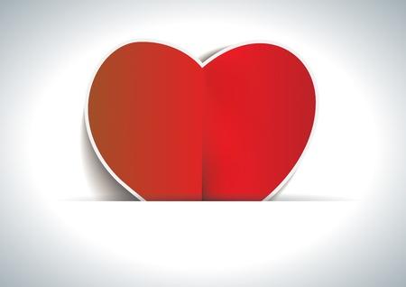 Valentines day card illustration background Stock Illustration - 17474209