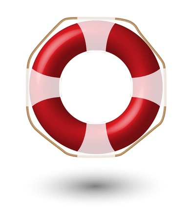 Red Life Buoy Isolated On White    Illustration  illustration