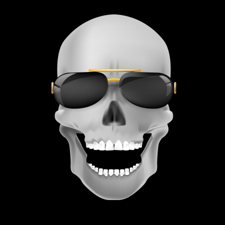 Human skull on dark background photo