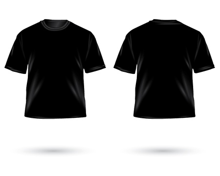 Vector. Mens t-shirt design template photo
