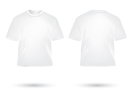 white T shirt on white background photo