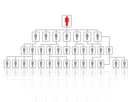 red man, leadership organization on white. Stock Photo - 17619862