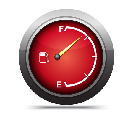 3d red gas gage on white background. Stock Photo - 17619881