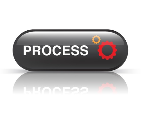 black process icon on white photo