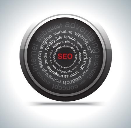 modern search optimization engine sign. Stock Photo - 17619883