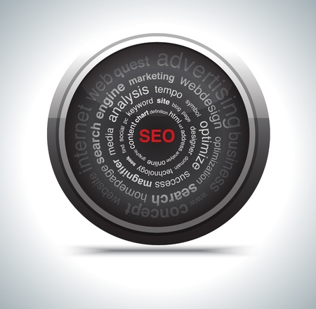 modern search optimization engine sign. photo