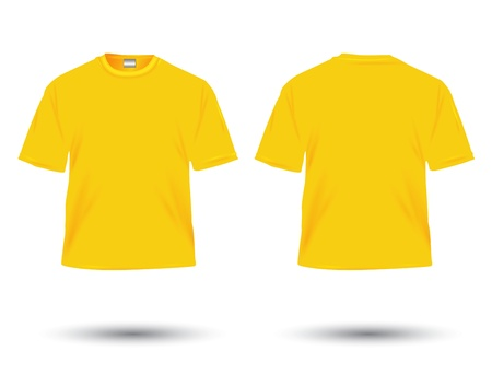 yellow dress: yellow t-shirt illustration on white.