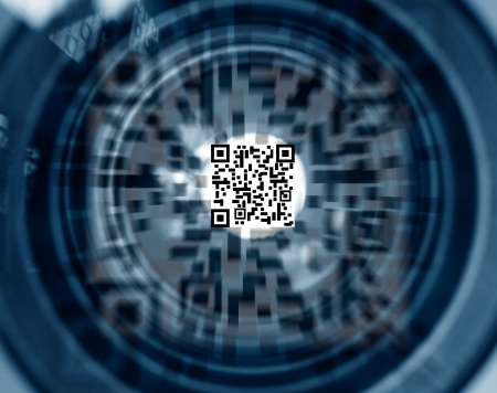 QR identification code motion  photo