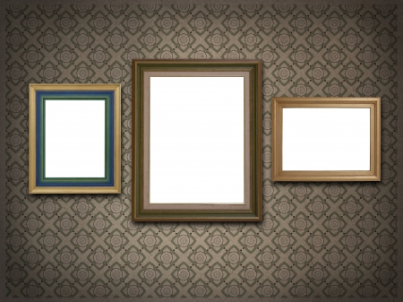 grunge wintage frame background  photo