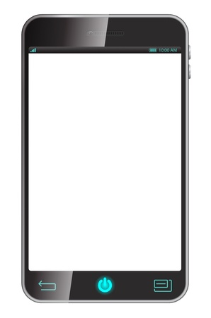 3d smart phone isolaed on white Stock Photo - 19186412