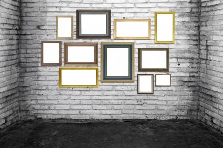 grunge room and vintage frames. Stock Photo - 19370556