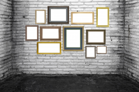 grunge room and vintage frames. photo