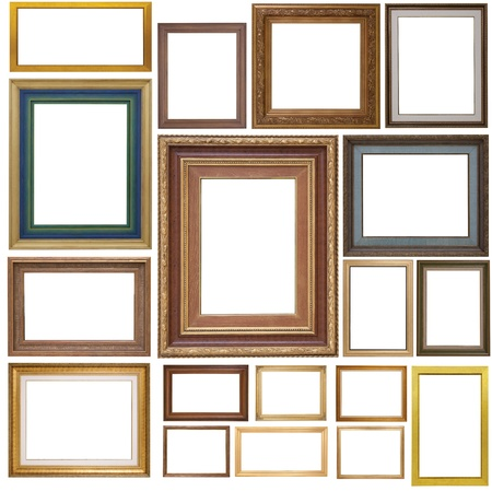 antique frame:  Antique frame isolated on white background