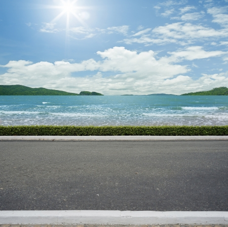 Road side beach view  background