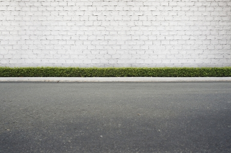 Roadside street view  background Stock Photo