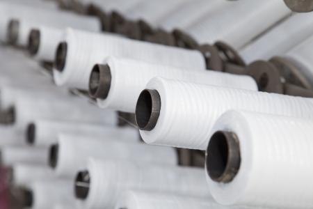 the workpiece: Rolls of the polypropylene workpiece  Stock Photo