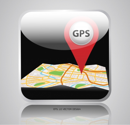 app navigation map  icons design  Vector