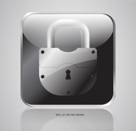 app, lock  icons design Stock Vector - 20667272