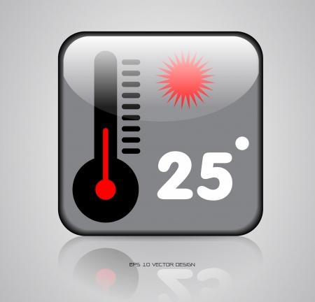 app, weather icons design  Vector