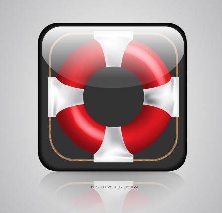 app, lifebuoy icons design  Stock Vector - 20731886