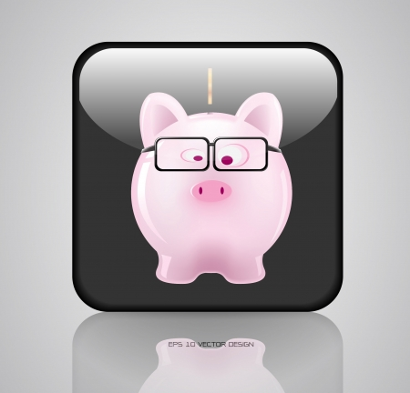app, piggy bank icons design  Stock Vector - 20731889