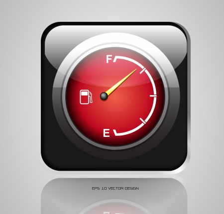 app  red gas gage on white background  Vector