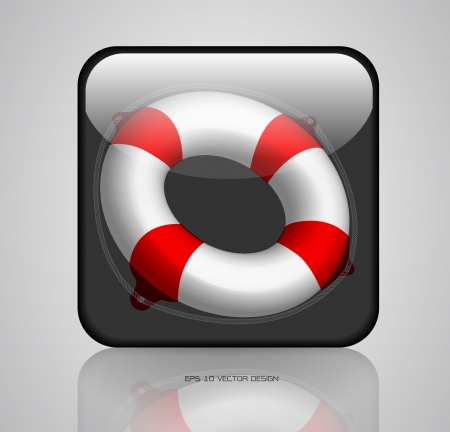 ring life: app, lifebuoy icons design
