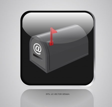 app, mail box icons design  Vector