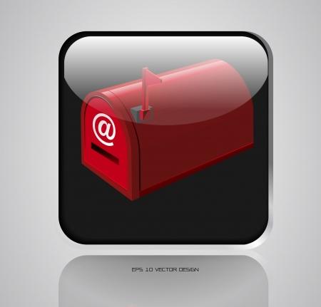 app, casella di posta icone di design