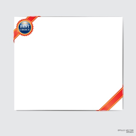 quality guarantee: blank cards with best choice sign
