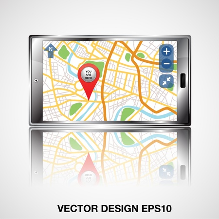 global positioning system: gps smartphone