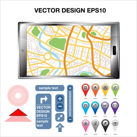 GPS Map Location Markers  Vector