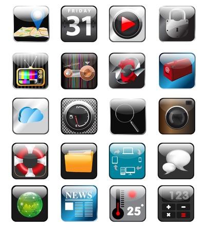 app: set of app vector icons  Illustration