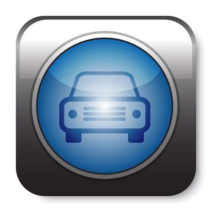 blue Car icon on white Stock Vector - 20732085