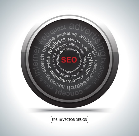modern search optimization engine sign. Vector