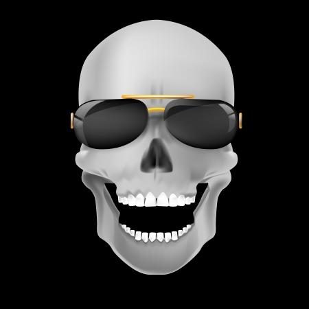 Human skull on dark background Stock Vector - 20732109